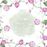 Floral watercolor frame Stock Photography