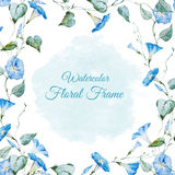 Floral watercolor frame Stock Images