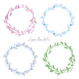 Floral watercolor frames set Royalty Free Stock Photo