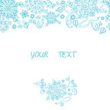 Floral watercolor hand drawn frame. Floral Frame Collection. Vector bright scuba blue floral frame with hand drawn and central white space for your text. Vector Royalty Free Stock Photo
