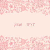Floral watercolor hand drawn frame. Floral Frame Collection. Vector pink floral frame with hand drawn and central space for your text. Vector hand drawn sketch Stock Photo