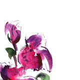 Floral watercolor illustration. Abstract painted floral background watercolor Royalty Free Stock Image