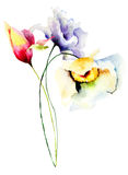 Floral watercolor illustration Royalty Free Stock Photo