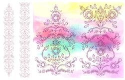 Floral watercolor  illustration set Royalty Free Stock Photos