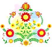 Floral watercolor  illustration, Ukrainian Stock Photos
