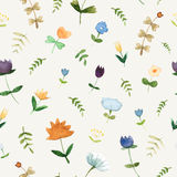 Floral watercolor pattern - illustration. stock images