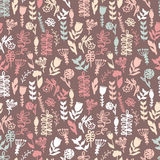 Floral watercolor pattern, texture with flowers. stock illustration