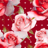 Floral watercolor roses. Seamless pattern Royalty Free Stock Photo