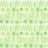 Floral watercolor seamless pattern Abstract flowers green design Royalty Free Stock Photo