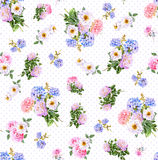 Floral Watercolor seamless pattern Stock Photography