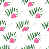 Floral watercolor seamless pattern Stock Images