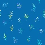 Floral watercolor seamless pattern Royalty Free Stock Photo