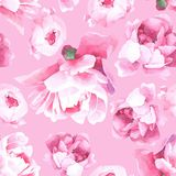 Floral watercolor seamless pattern vector illustration
