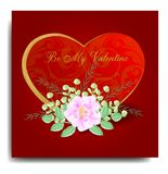 BE MY VALENTINE WITH WATERCOLOR CONCEPT AND WITH RED BACKGROUNDS vector illustration