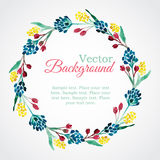 Floral watercolor wreath with flowers Royalty Free Stock Image