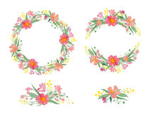 Floral watercolor wreaths, frames, bouquets Royalty Free Stock Photos