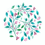 Floral διανυσματικό Watercolour Στοκ Εικόνες