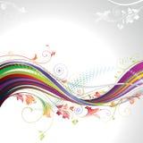 Floral Wave. Floral elements wave banner Background