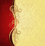 Floral wave and ornament Royalty Free Stock Photo