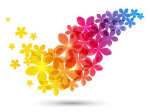 Floral wave Royalty Free Stock Image