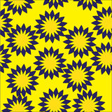 Floral weave. Seamless floral pattern on a yellow background stock illustration