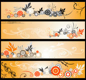 Floral web banners Stock Photos
