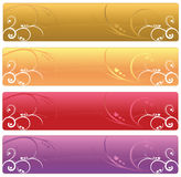 Floral Web banners Stock Image