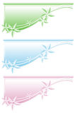 Floral web banners Royalty Free Stock Images
