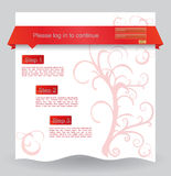 Floral web design template Royalty Free Stock Images