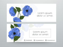 Floral web header or banner design. Stock Image