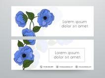 Floral web header or banner design. Stock Image