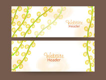 Floral web header or banner set. Royalty Free Stock Photo