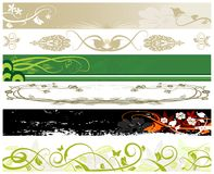 Floral website banners Royalty Free Stock Photos