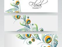 Floral website header or banner design. Stock Photography