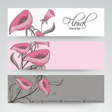 Floral website header or banner design. Royalty Free Stock Photo