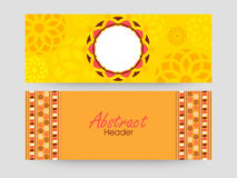 Floral website header or banner set. Royalty Free Stock Photography