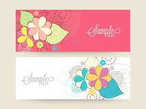 Floral website header or banner set. Stock Photography