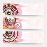 Floral website header or banner set. Stock Photography