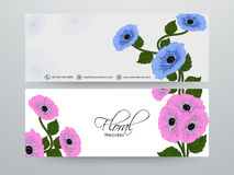 Floral website header or banner set. Stock Image