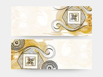 Free Floral Website Header Or Banner Set. Royalty Free Stock Photography - 59428157