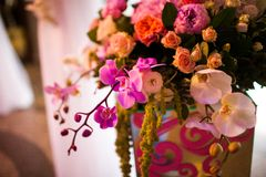 Floral wedding arch Stock Photography