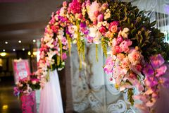 Floral wedding arch Stock Photos