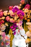 Floral wedding arch Royalty Free Stock Images