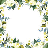 Floral wedding background with white roses Stock Photos