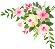 Floral wedding bouquet with roses. Stock Images