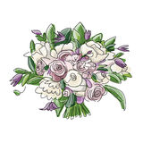 Floral wedding bouquet, sketch for your design Royalty Free Stock Images