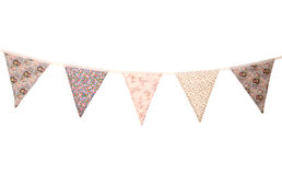 Floral wedding bunting Royalty Free Stock Image