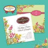 Floral wedding card Stock Photos
