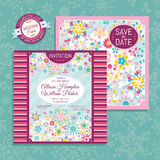 Floral wedding card Stock Images