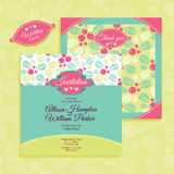 Floral wedding card Royalty Free Stock Photo